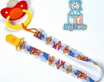 Adult Baby  Winnie the Pooh pacifier & clip ABDL