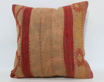 Decorative Kilim Pillow Sofa Pillow Ethnic Pillow 20x20 Naturel Kilim Pillow Anatolian Kilim Pillow Cushion Cover SP5050-2002
