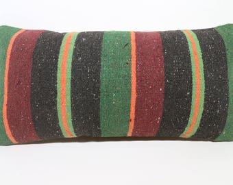 12x24 Naturel Kilim Pillow 12x24 Bohemian Kilim Pillow Ethnic Pillow Striped Kilim Pillow Home Decor Anatolian Kilim Pillow  SP3060-1489
