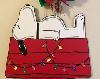 Snoopy Christmas Door Hanger, Charlie Brown Christmas