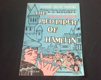 Bradford Alhambra Theatre Pantomime Programme The Pied Piper Of Hamelin