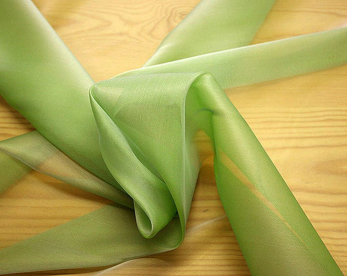 232082-Organdy natural Silk Cangiante 100%, litmus, width 135/140 cm, made in Italy, dry cleaning, weight 55 gr