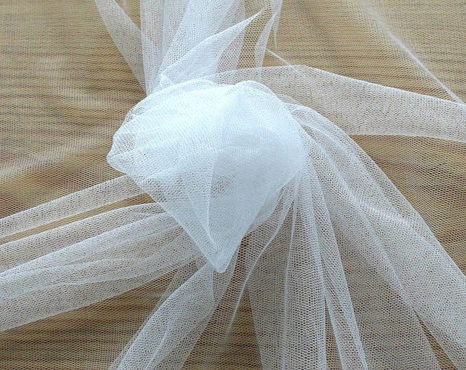 470002-tulle natural silk 100%, width 180 cm, made in Italy, dry cleaning, weight 24 gr