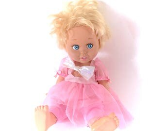 "1990 Baby Face Doll #7 13"" Galoob So Innocent Cynthia Near Complete Poseable 90s Original Retro Dolls Poseable Posing Eyelashes 1990s Rare"