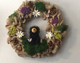 Custom burlap country wreath/gift