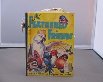 Feathered Friends junk journal, vintage journal, altered book