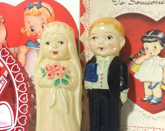 Vintage Celluloid Bride and Groom