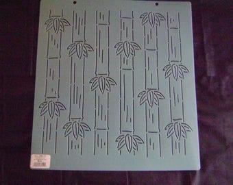 Sashiko Japanese Embroidery Stencil 12 in. Sashiko Asian Bamboo Motif Block/Quilting