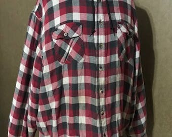 Vintage Fleece Plaid Jacket with inside quilt Size 3XL Unisex Wrangler