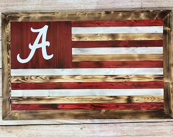 Wooden flag - customizable