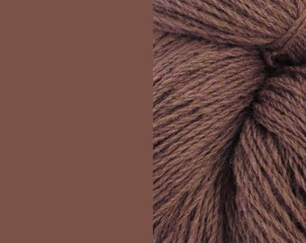 Wool Yarn, cacao brown, DK, 3-ply worsted knitting yarn 8/3 100g/130m