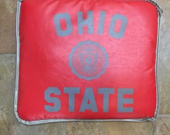 Old Ohio State Football Seat Cushion Buckeyes