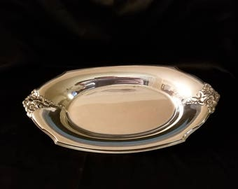 Silverplate small serving tray.
