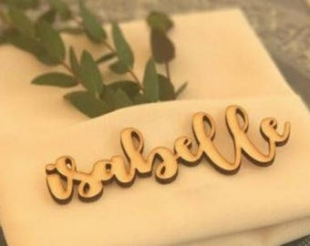 Personalized Wedding Favor Guest Name Place Card Laser Cut
