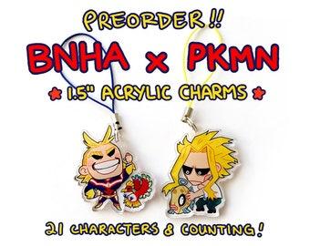 JULY PREORDER: BnHA x Pkmn Charms