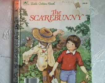the Scarebunny vintage childrens books. A little Golden book 1985