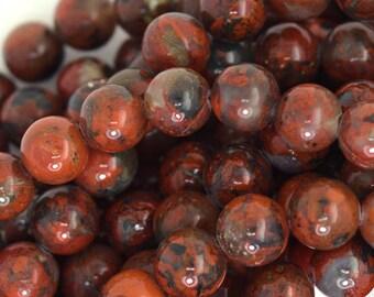 """8mm poppy jasper round beads 16"""" strand 35797"""
