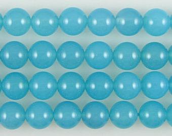 AAA 10mm blue chalcedony round beads 10pcs 13135