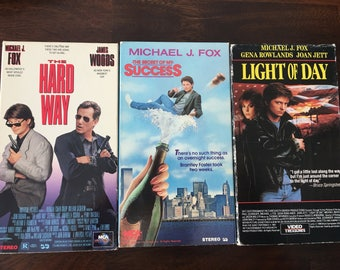 Michael J Fox VHS Video Set The Secret Of my Success ,Light of Day and The Hard Way