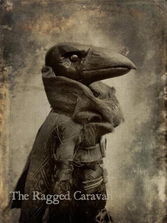 Victorian gothic vintage raven print gothic art crow art - Gothic hintergrundbilder ...