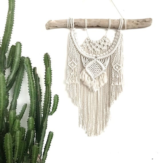 "Macrame Wall Hanging ""Jewel"" READY TO SHIP"