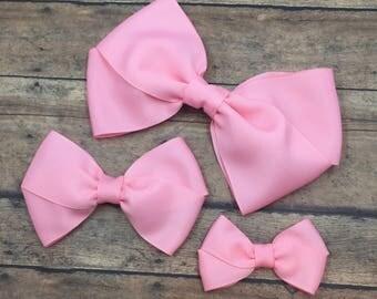 pink hair bows etsy