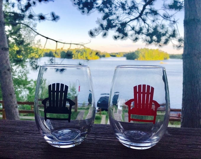 Custom Handmade Lake Life Stemless Drinkware Line: Lake Life Candle Co.