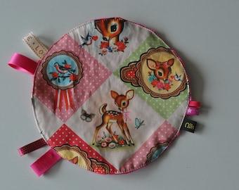 blanket pattern vintage round