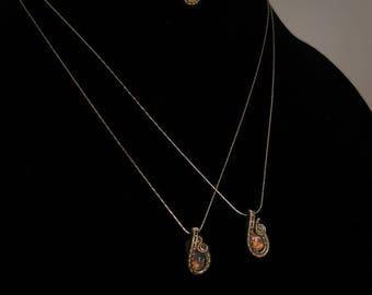 Genuine Ethiopian Opal - Stunning Rainbow fire - Dainty - Choker - Wirewrap - Crystal Necklace