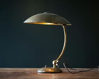 Vintage flying saucer desk lamp