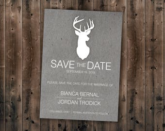 Country Save The Date Printed
