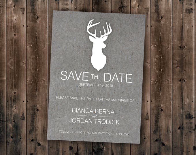 Country Save the Date Printed - Wedding Save The Date, Affordable, Cheap, Wedding Invitations, Lights, Calendar, Wood, Rustic, Postcard