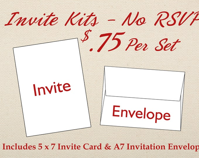 Invitation and Envelope Only