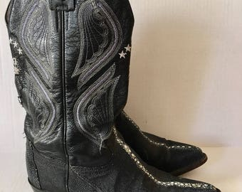 Stingray leather western cowboy boots man size 7 1/2 , woman size 8 1/2 .