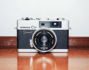 Konica Minolta C35 35mm Compact Film Camera with 38mm Hexanon F2.8 lens #331