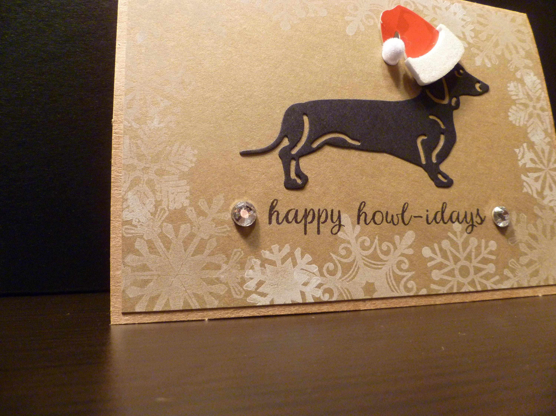 Handmade dachshund christmas card furry christmas happy handmade dachshund christmas card furry christmas happy howlidays dog christmas pet christmas kristyandbryce Image collections