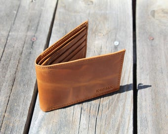 Buffalo Leather Wallet - Light Brown