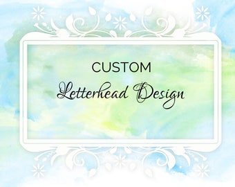 Letterhead Design - Custom letterhead design - 8.5 x 11 inches