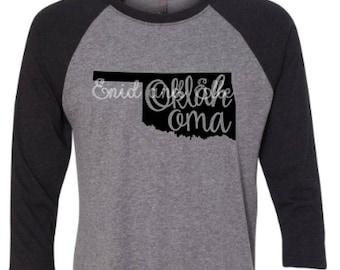 Oklahoma t-shirt - Oklahoma  state shirt - Oklahoma  home t-shirt - home shirt - Oklahoma  baseball shirt - Oklahoma  raglan shirt