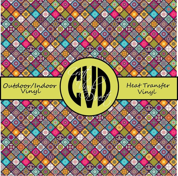 Boho Patterned Vinyl // Patterned / Printed Vinyl // Outdoor and Heat Transfer Vinyl // Pattern 732