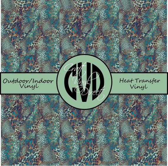 Leopard Patterned Vinyl // Patterned / Printed Vinyl // Outdoor and Heat Transfer Vinyl // Pattern 749
