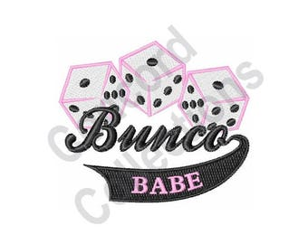 Bunco Dice - Machine Embroidery Design