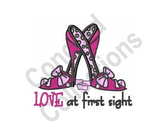 Shoes - Machine Embroidery Design, Love At First Sight, Stilettos, High Heels