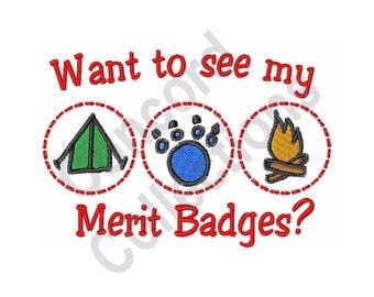 Merit Badges - Machine Embroidery Design