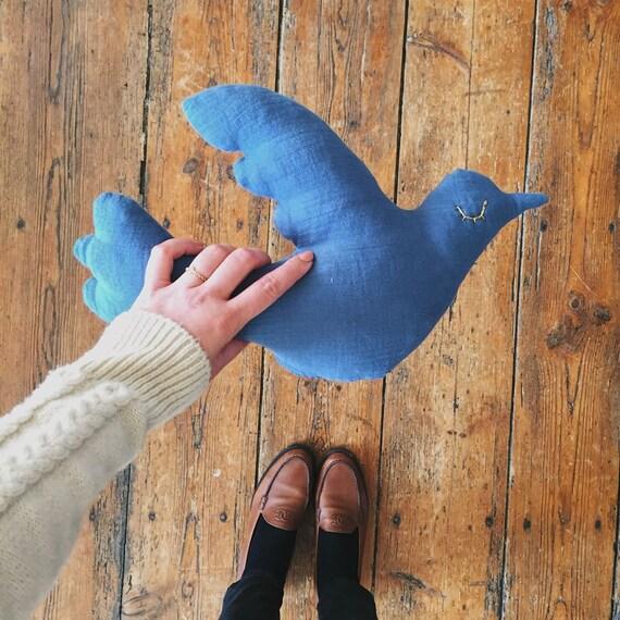 Cuddly cushion - Vanda Bel bird - handmade - Handmade - La Rochelle