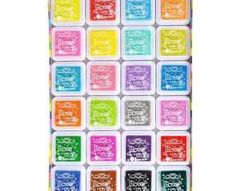 Ink Pad Set 24 Pieces - Stamp Ink Pad
