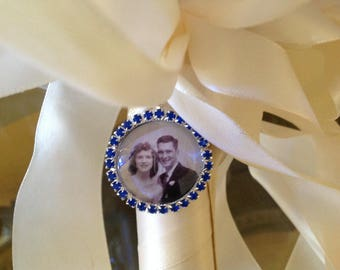 Wedding bouquet remembrance charm. Something blue! I will do your photo!
