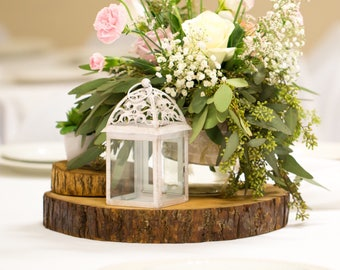 Wedding Centerpieces For Tables, Table Centerpieces, Tree Slabs, Tree