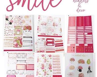 40% Off Sale FOILED Smile//6 Sheet Weekly Kit//Erin Condren//Happy Planner