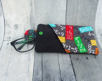 Oversize Math Glasses or Sunglass Case with angled pocket